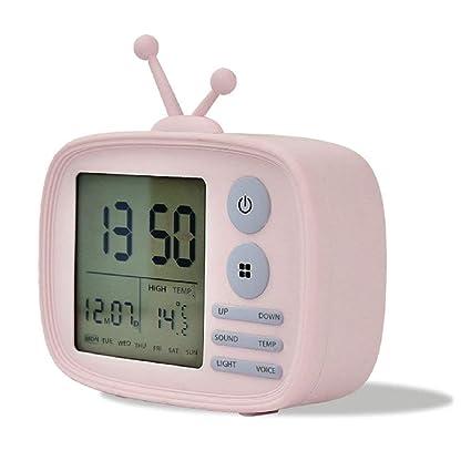 GuDoQi Despertador TV Digital Alarma Reloj De Escritorio Control De Sonido Digital Silicona Cargador USB Temperatura
