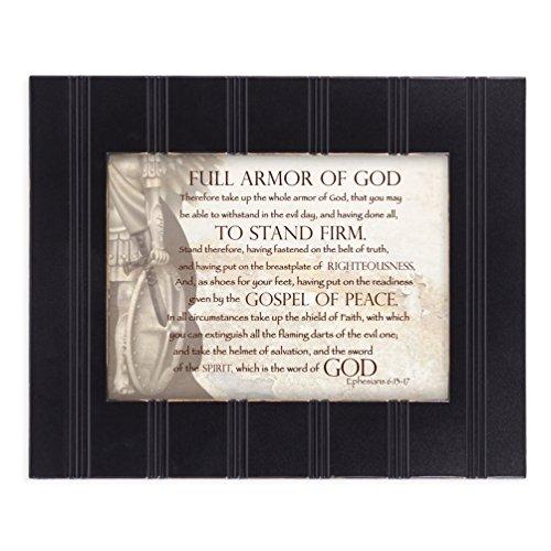 Full Armor of God Ephesians 6:13-17 8x10 Black Framed Art Wall Plaque Sign