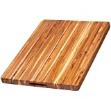 AURORA Extra Large TEAK wood Cutting Board with Holding handles. (L:18 inches B:12 inches H:1.25 inches)