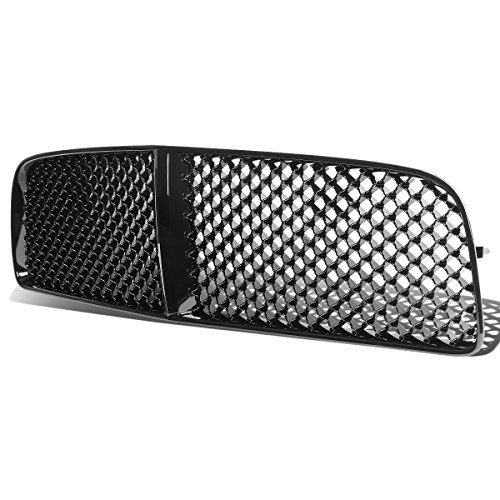 For 06-10 Dodge Charger ABS Plastic Sport Mesh Front Bumper Grille (Black) - 1st Gen LX (Bumper 10 Grille Oe)