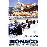 Monaco Grand Prix 1966 Poster Print by Michael Turner (12 x 18)