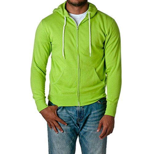 (Independent Trading Co. Unisex Full Zip Hooded Sweatshirt AFX90UNZ, Lime, XX-Large)
