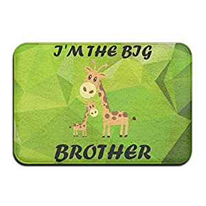 busuy Happy familia ropa Little Boys 'I' m The Big Brother Welcome Mat \ R \ interior Felpudo