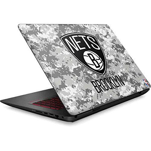 Skinit NBA Brooklyn Nets Omen 15in Skin - Brooklyn Nets Digi Camo Design - Ultra Thin, Lightweight Vinyl Decal Protection by Skinit