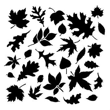 Amazon Com Fall Leaves Pattern Stencil 6 X 6