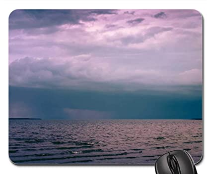 Amazon com : Mouse Pad - Storm Clouds Cloudy Dark Sky Ocean
