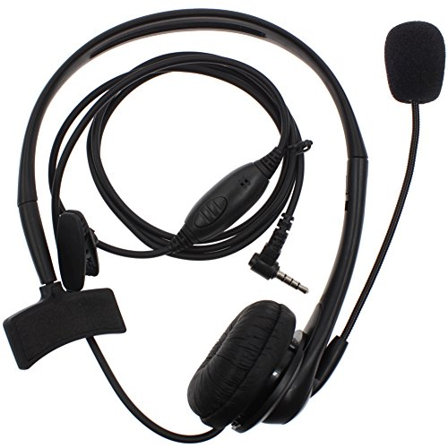 KENMAX 1 Pin Overhead Earpiece Headset with Boom Mic Microphone Noise Cancelling for Yaesu VX-1R FT-50 VX-10 VX-110 VX-210 VXF-1