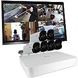 REVO America RU81B6GM22-2T Ultra HD 8-CH 2TB NVR Surveillance System with 6 x 4 Megapixel Bullet Cameras (White)