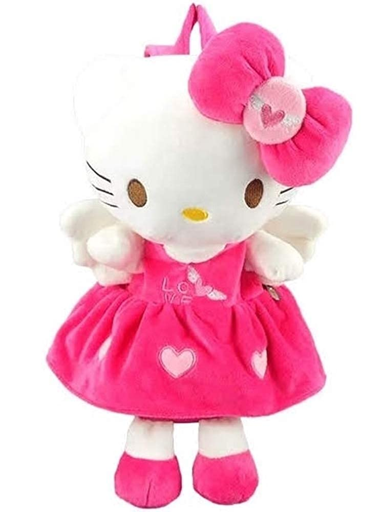 Adorable Girls Plush Kitty Back Pack with soft straps and zip pocket
