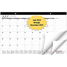 "Desk Calendar 2018-2019: 11""x17"" - (Runs from July 2018 Through December 2019) (1 Pack)"