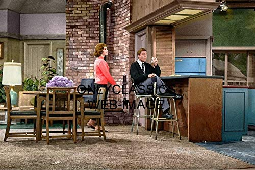 OnlyClassics Dick Van Dyke TV Show Mary Tyler Moore ON Set Color 8X12 Photo Television Icons (Tv Guides 100 Greatest Episodes Of All Time)
