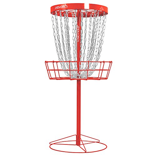 Review Axiom Discs Pro 24-Chain Disc Golf Basket – Red