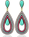 Youbella Jewellery Bohemian Gold Plated Multi-Colour Party Wear Earrings For Girls And Women