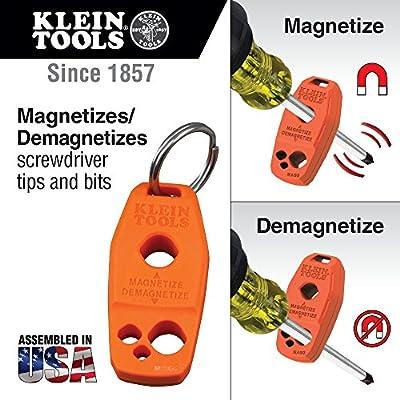 Klein Tools 85148 Screwdriver Set 8pcs Includes Magnetizer / Demagnetizer, 2 Slotted, 4 Phillips, 2 Cabinet Tip, Cushion Grip Comfort