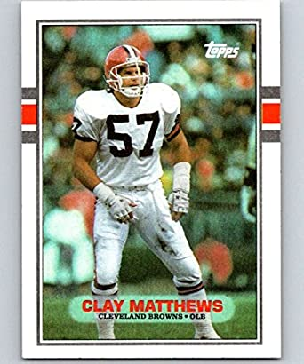 hot sales fd8ea 2c319 Amazon.com: Football NFL 1989 Topps #143 Clay Matthews ...