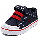 Nautica Boys' Calloway Slip-on, Navy/Red, 5 M US Toddler