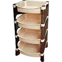 National Shannon Rattan 4 shelves storage rack