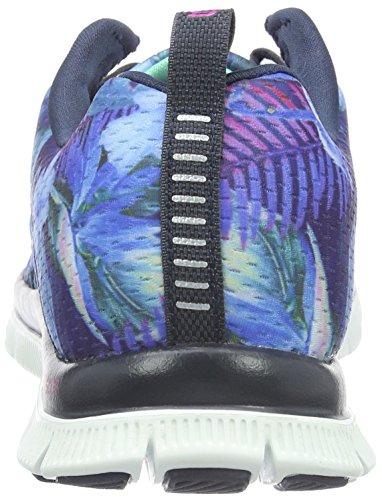 Flex nvmt Skechers Basse Sneaker nbsp;floral Appeal Donna Bloom Blu w8PdUPzWqn