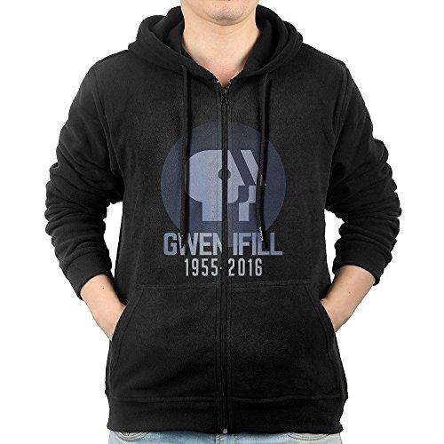 MEN Gwen Ifill 1955-2016 Zip Hoodie Sweatshirt