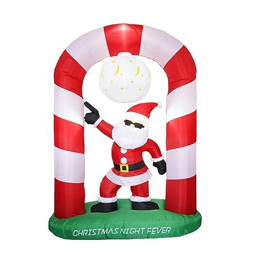 Mississ Arco Hinchable de Navidad Papá Noel con luz, decoración ...