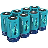 8 Pack Tenergy 10000mAh Rechargeable D Size Battery