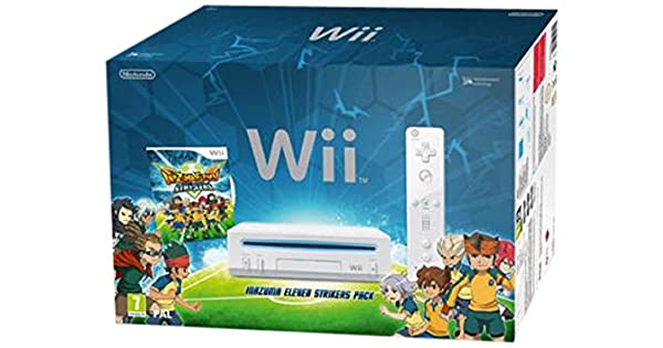 Nintendo Wii Inazuma Eleven Strikers Pack Blanco Wifi - Videoconsolas (Wii, Blanco, 512 MB, IBM PowerPC, 802.11b,802.11g, 1,13 kg): Amazon.es: Videojuegos
