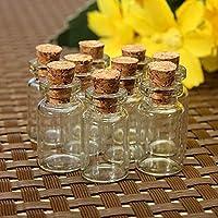 10 قطع لطيف مصغرة من الفلين الشفاف سدادة الزجاجات الزجاجات برطمانات حاويات صغيرة تتمنى #ZH210