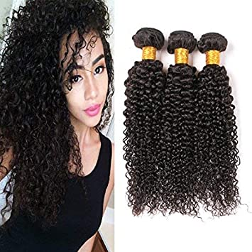 Amazon Com Brazilian Curly Hair 3 Bundles Short Virgin Human Hair
