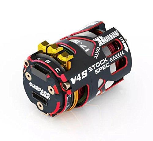 (RCRunning 540 17.5T 3.175mm Shaft Sensored Brushless Motor Racerstar V4S Rocket Stock Spec Brushless 2 Sensor for 1/10 RC Racing Car)
