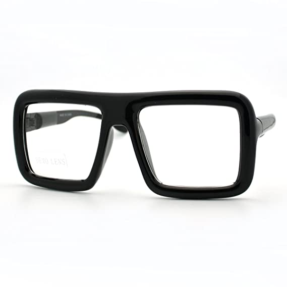 2f114e66ea JuicyOrange Thick Oversized Square Frame with Clear Lens (Matte ...