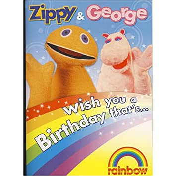 Rainbow Zippy George Talking Birthday Card Amazon Toys Games