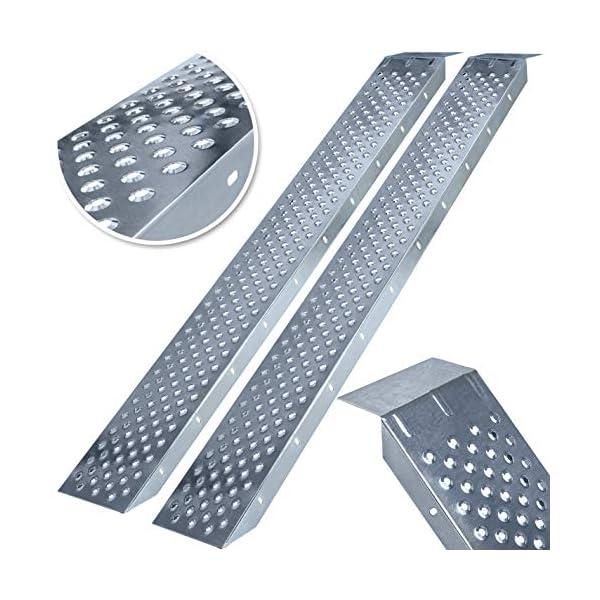 51 MASKO® 2X Auffahrrampe 400kg   Verladerampe   Verladeschiene   verzinkter Stahl   Antirutsch   200kg* Pro Stück   Max…