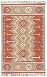 Cheap Jaipur Living Emmett Indoor/Outdoor Tribal Orange Area Rug (5′ X 8′)