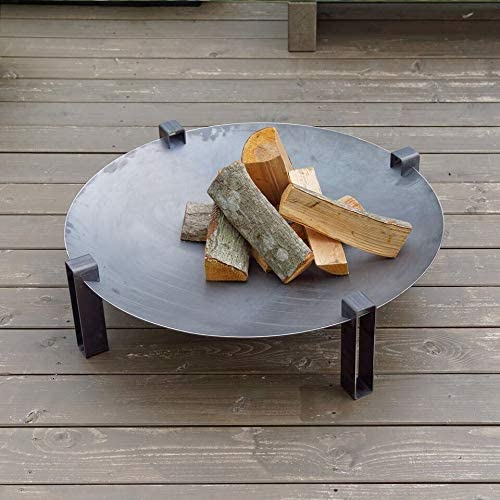 Curonian Alna Fire Pit 31.5 Solid Carbon Rusting Steel
