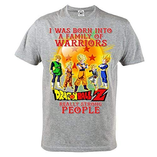 Rule Out Camiseta Dragon Ball Z. Súper Gohan. Vegeta. Son Goku. Algodón Gris Camiseta Casual: Amazon.es: Ropa y accesorios