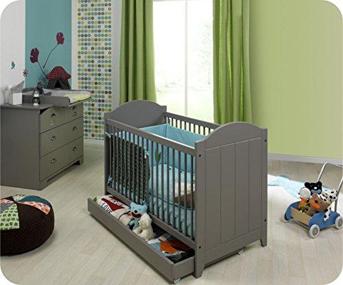 Mini Babyzimmer Charme grau mit Wickelfläche
