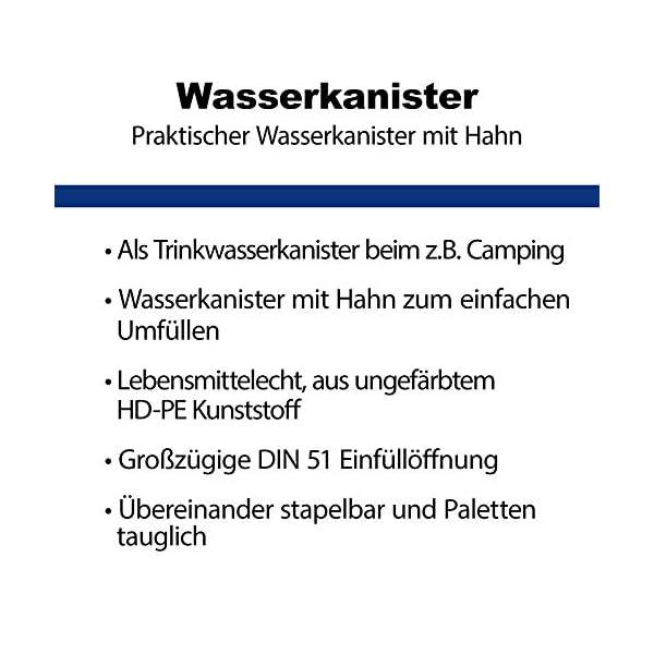 51 Mz6XK3rL S-Pro Wasserkanister Trinkwasser mit Hahn, Lebensmittelecht, 10l für Haus, Garten und Camping Wasserbehälter, leer