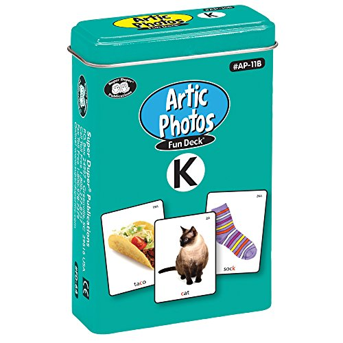 Articulation Photos K Fun Deck Flash Cards - Revised with NEW Color Photos - Super Duper Educational Learning Toy for Kids … (Flash Deck Cards New)