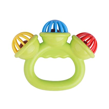 Musical Instrument Baby Educational Shaking Kids Jingle Rattle Handbell Toy