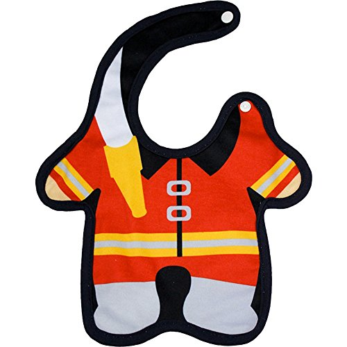 Firefighter 8 x 13 Inch Cotton Blend Side Snap Closure Baby Bib