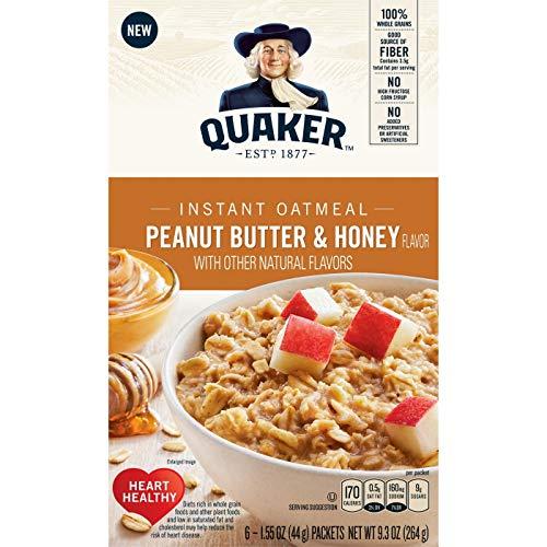 (Quaker Peanut Butter & Honey 1.55oz x 6(total 9.3oz), pack of 1)
