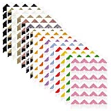 15 Sheets Photo Mounting Corners, FineGood Self Adhesive Paper Picture Sticker for DIY Scrapbook Album Diary Personal Organizer Notebook - 14 Colors