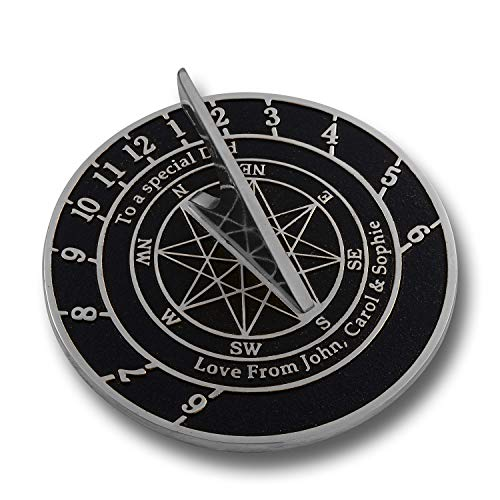 - The Metal Foundry Personalized Aluminum Sundial Gift. This Unique Gift Idea for Him Or Her is Cast with Your Message and Will Make The Perfect Present for Birthday, Anniversary Or Christmas