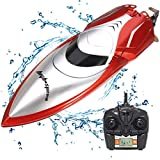 KOLAMAMA Remote Control Boat, 2.4G High Speed RC Boat for Kids/Adults,Electric Radio Remoter