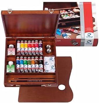 Talentos Colores acrílicos VAN GOGH caja de madera con 14 tubos 40 ...
