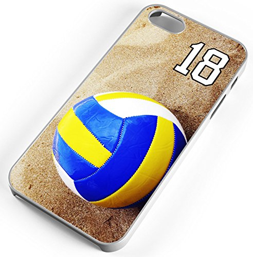 Beach Volleyball Clear Rubber Cell Phone Case Fits iPhone 6 PLUS 6+ Player Jersey Number 18