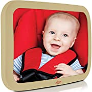 Baby Backseat Mirror for Car - Largest and Most Stable Mirror with Premium Matte Finish - Crystal Clear View of Infant in Rear Facing Car Seat - Safe, Secure and Shatterproofvcv