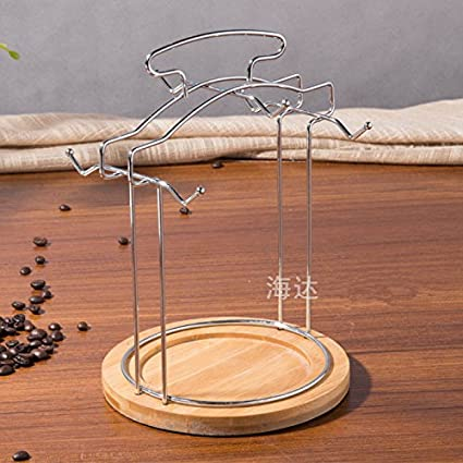 WangYangDaHai Portavasos de Acero Inoxidable, Taza de café, Taza de Rack de Almacenamiento,