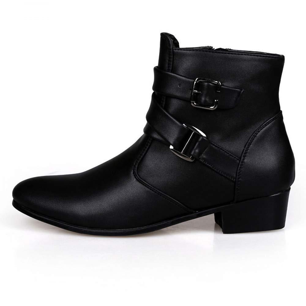 FHCGMX Modische Herrenschuhe aus echtem Leder, Winterstiefel für Herren, wasserdicht, warme Schuhe für Herren