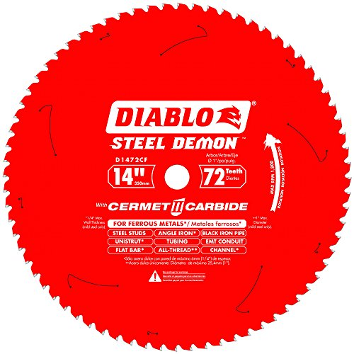 Diablo D1472CF 14-inch Steel Demon 72T Cermet II Carbide Ferrous Metal Saw ()